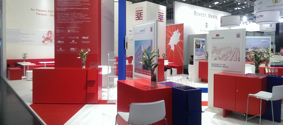 "Exhibition Stand Builders In Munich : We built the ""hessen trade invest business promoter"